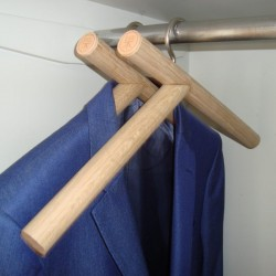 Hanger - ( 入 ) rú - in the closet.