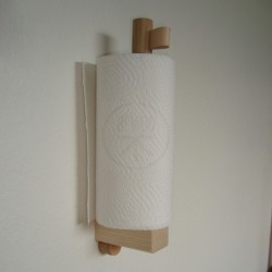Kitchen Roll Holder For Wall Installation Solid Wood Danish Design