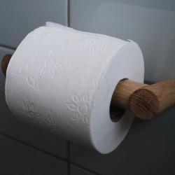 Toiletpapir roll, solid oak.