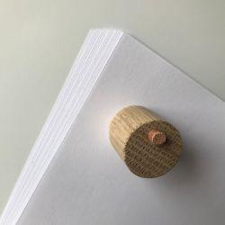 Tavlemagnet, Neodymium pakket ind i træ og læder