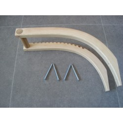 Paddle storage in solid wood, steambended Ash-wood